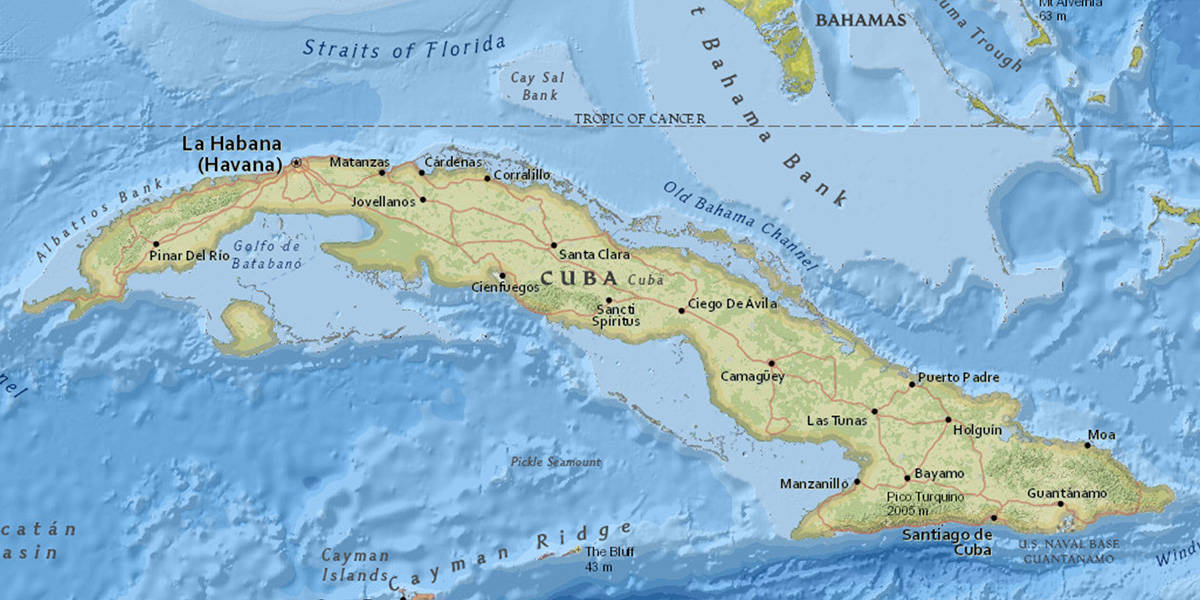 Contact Us Caribbean Conservation Trust - Map of cuba and us